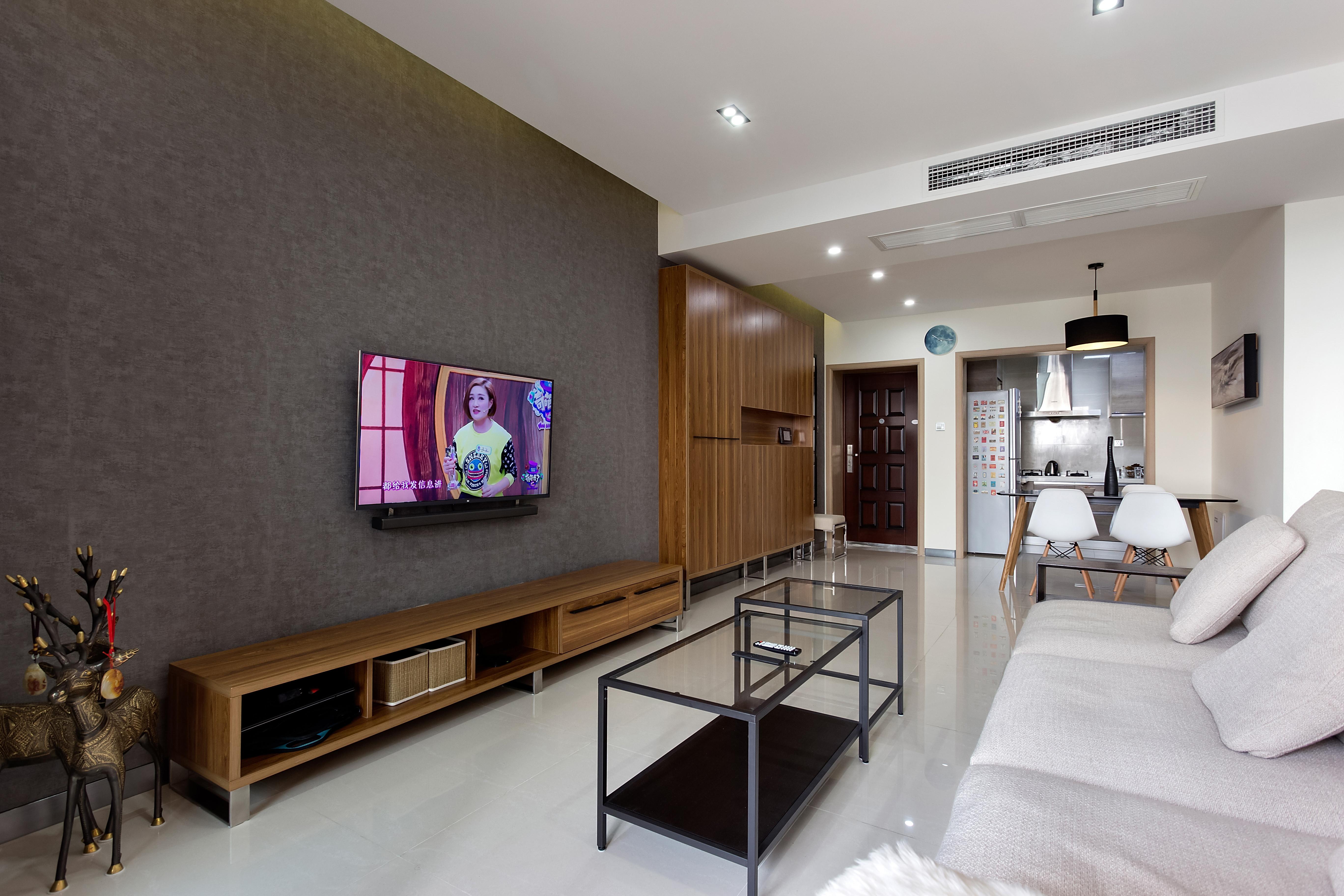 二居室简约风格设计电视背景墙图片