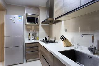 二居室简约风格设计厨房布局图