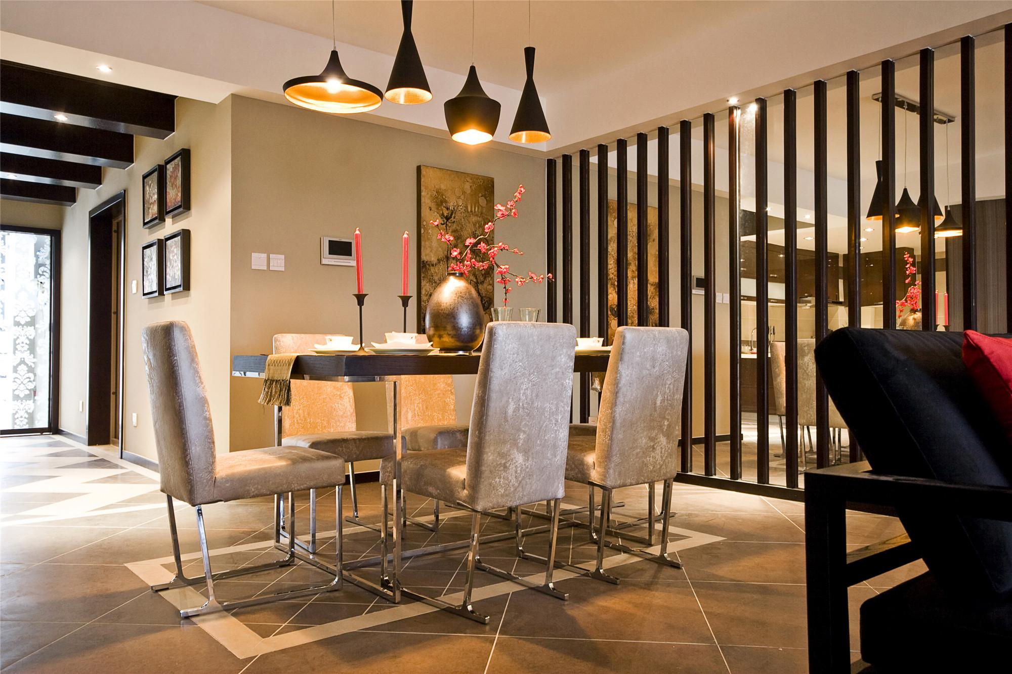 175平新中式之家餐厅效果图
