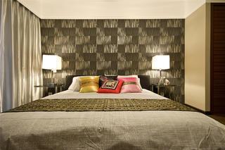 175平新中式之家卧室背景墙图片