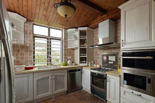 田园风格别墅装修厨房构造图
