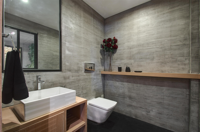一居室现代简约家卫生间效果图