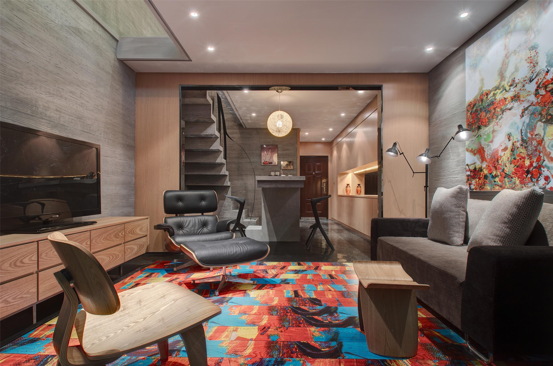 一居室现代简约家客厅效果图