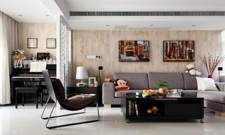 简约复式装修沙发背景墙图片