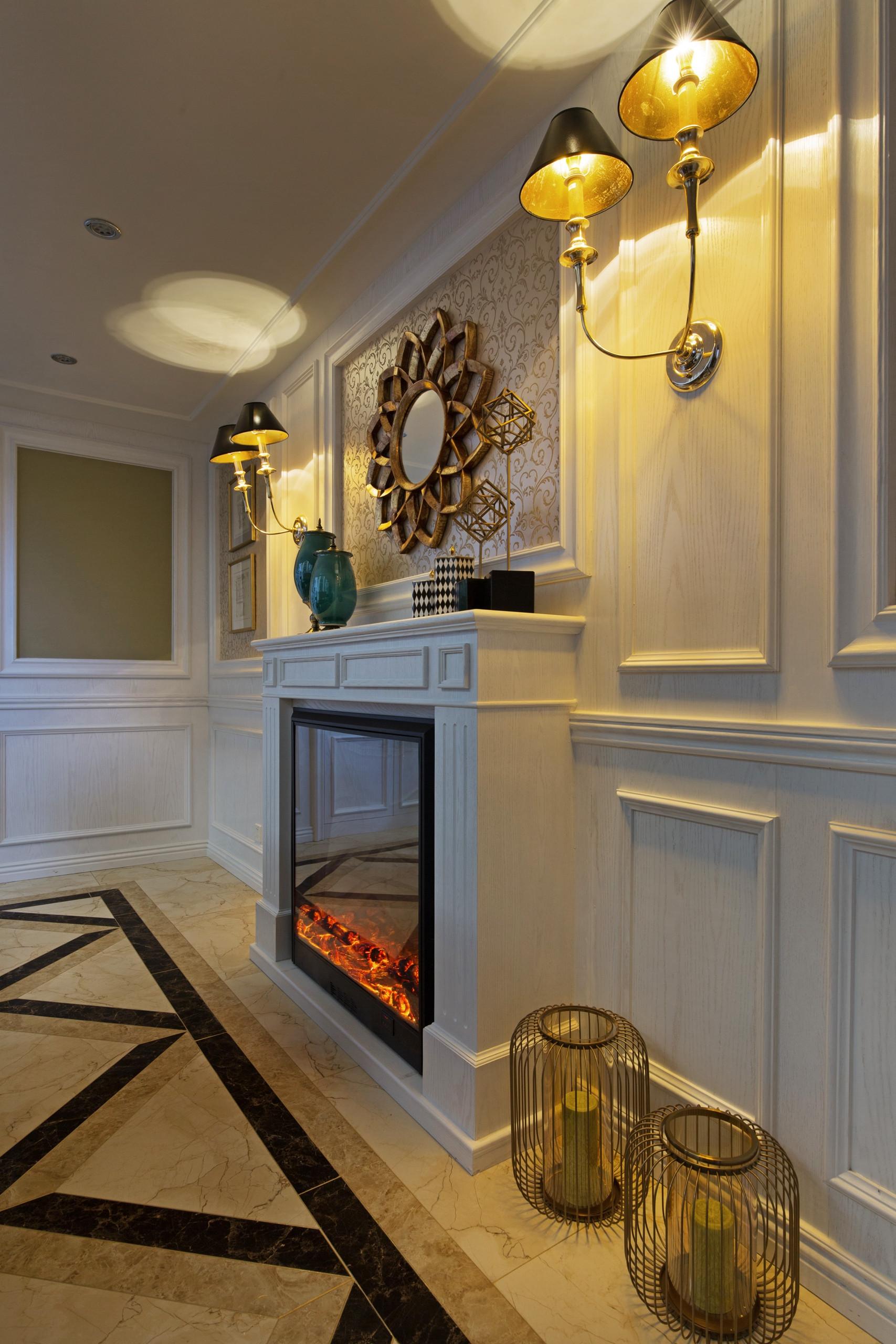 新古典复式装修壁炉造型设计