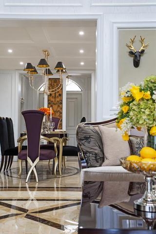 新古典复式装修餐桌椅图片
