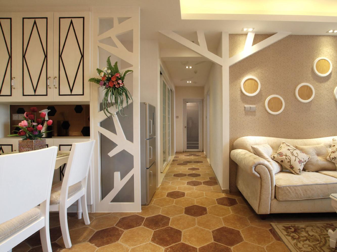 68平混搭风格装修走廊图片