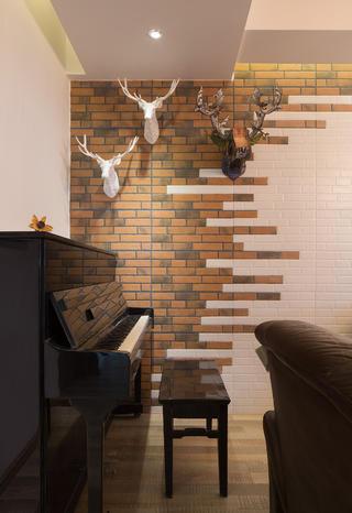 三居室北欧风格装修钢琴区