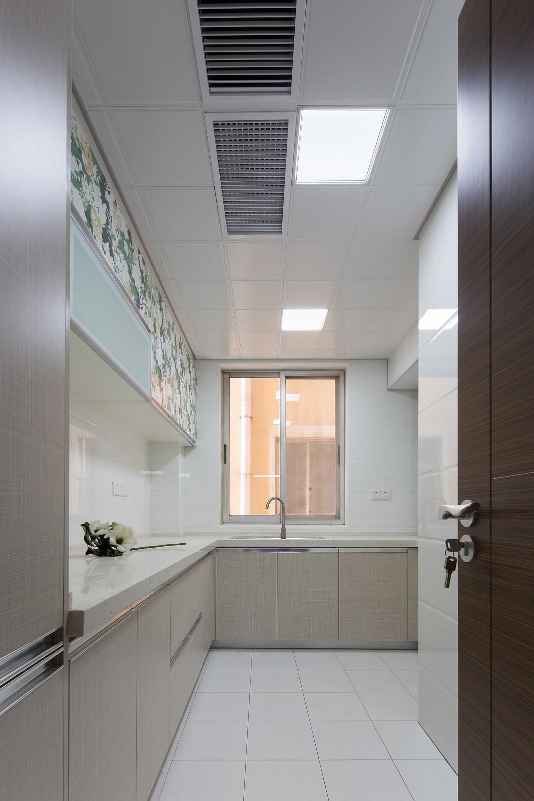 三居室北欧风格装修厨房设计图