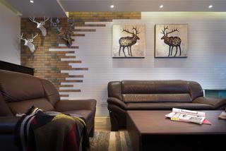 三居室北歐風格裝修沙發圖片