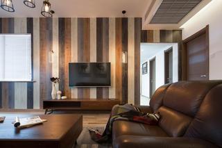 三居室北欧风格装修电视背景墙图片