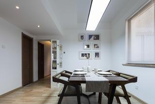 三居室北欧风格装修餐厅背景墙图片