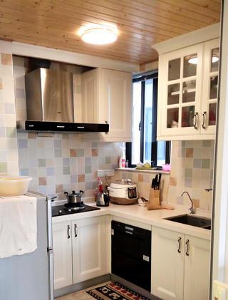 二居室混搭风格装修厨房布局图