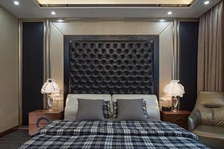 现代别墅装修床头背景墙图片