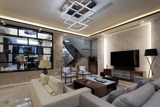 现代别墅装修吊灯图片