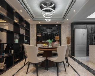 现代别墅装修餐厅效果图