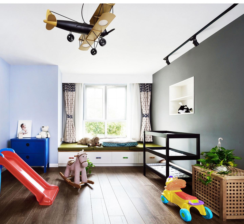 北欧风别墅装修儿童房效果图