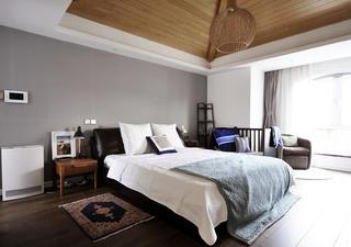 北欧风别墅装修卧室背景墙图片