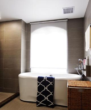 北欧风别墅装修浴缸图片