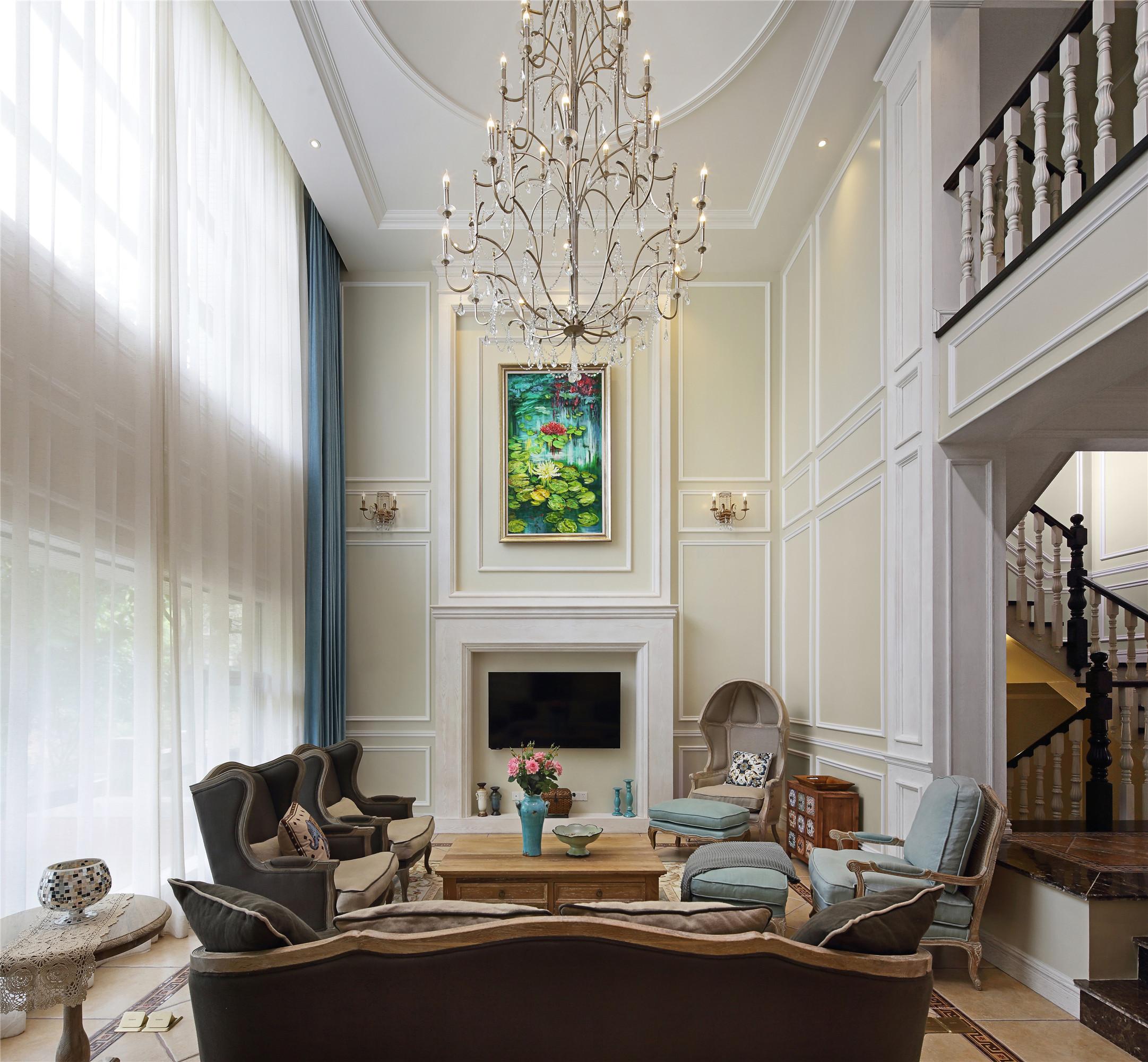 美式别墅装修吊灯图片