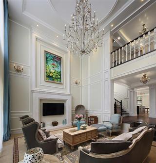 美式別墅裝修電視背景墻圖片