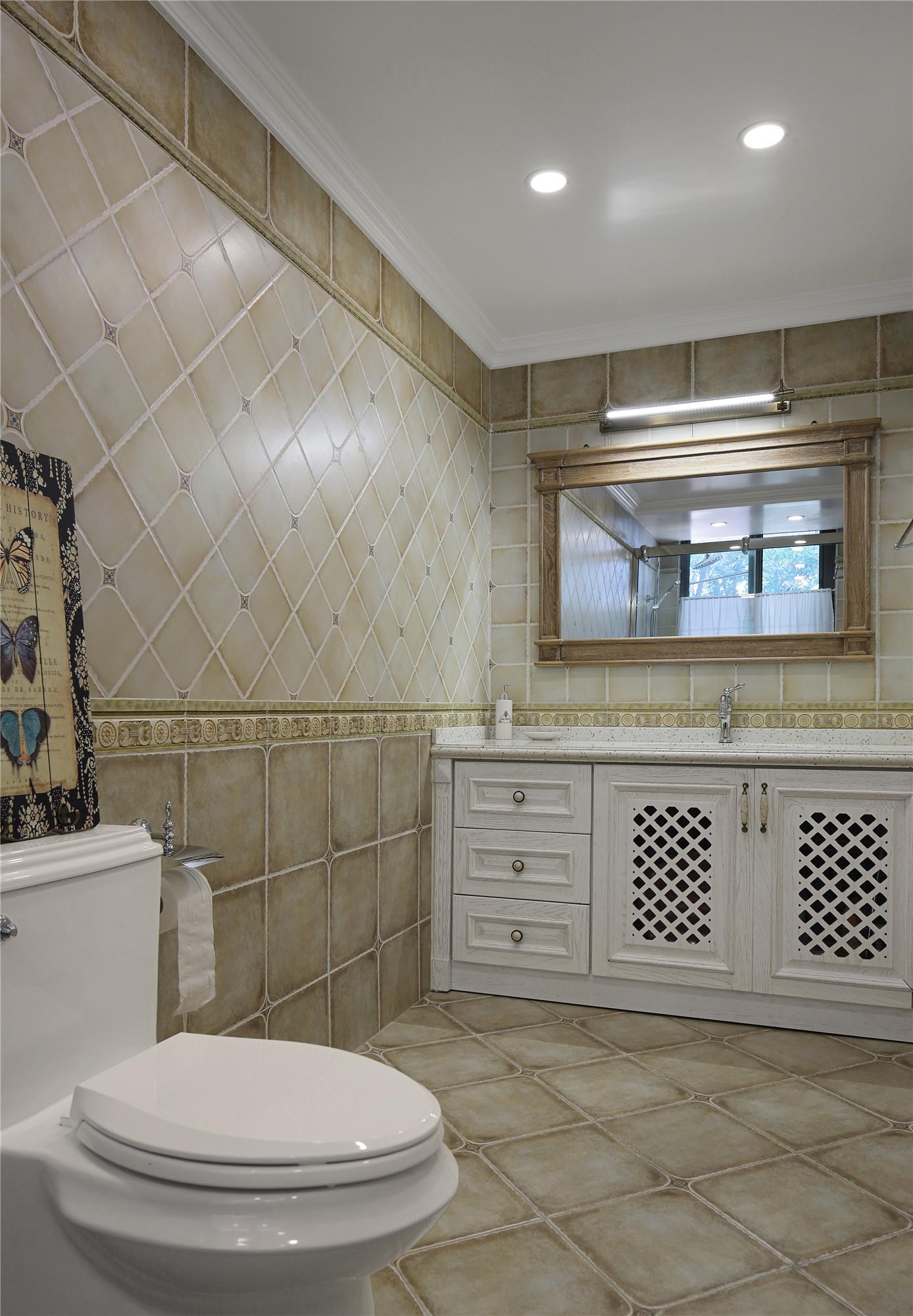 美式别墅装修卫生间效果图