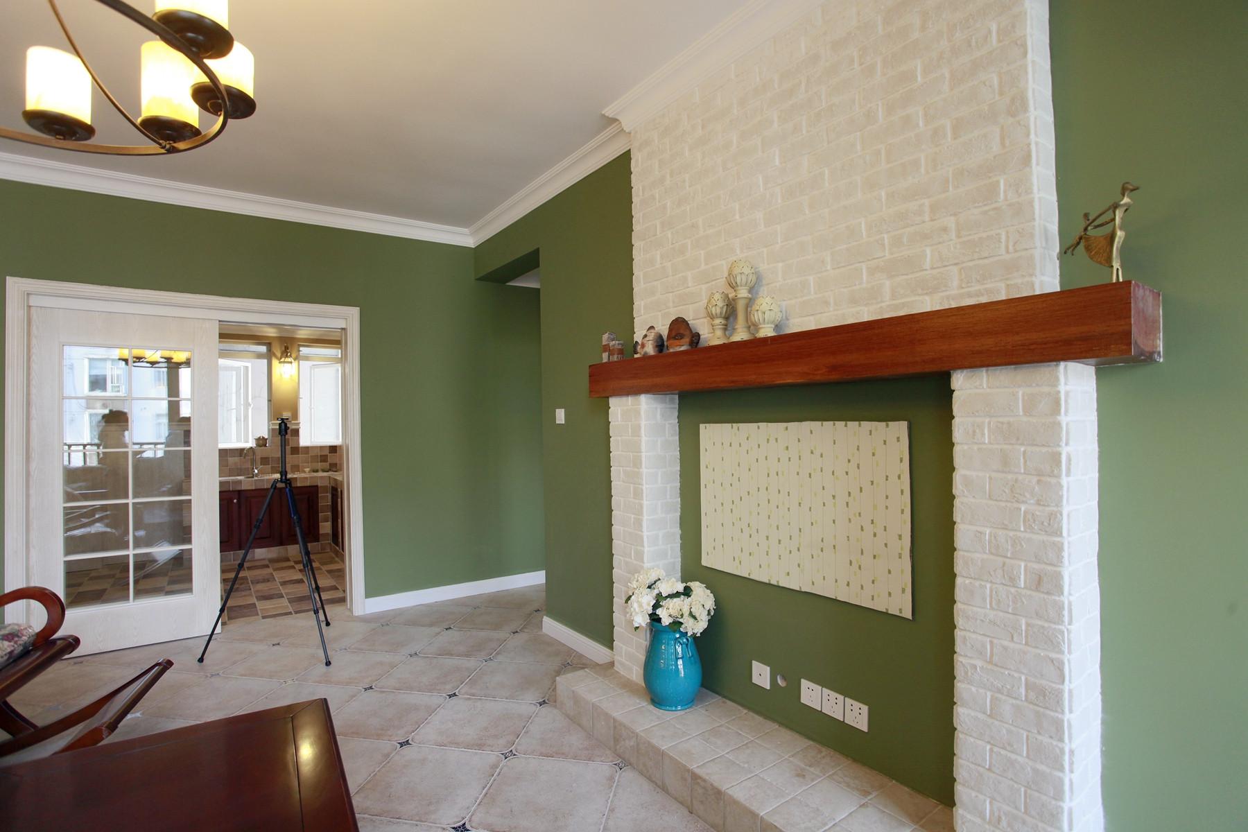 110平美式乡村风格家壁炉设计