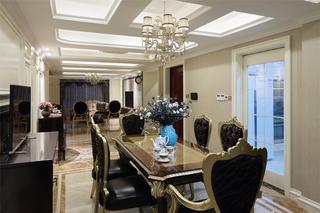 新古典三居装修餐桌椅图片