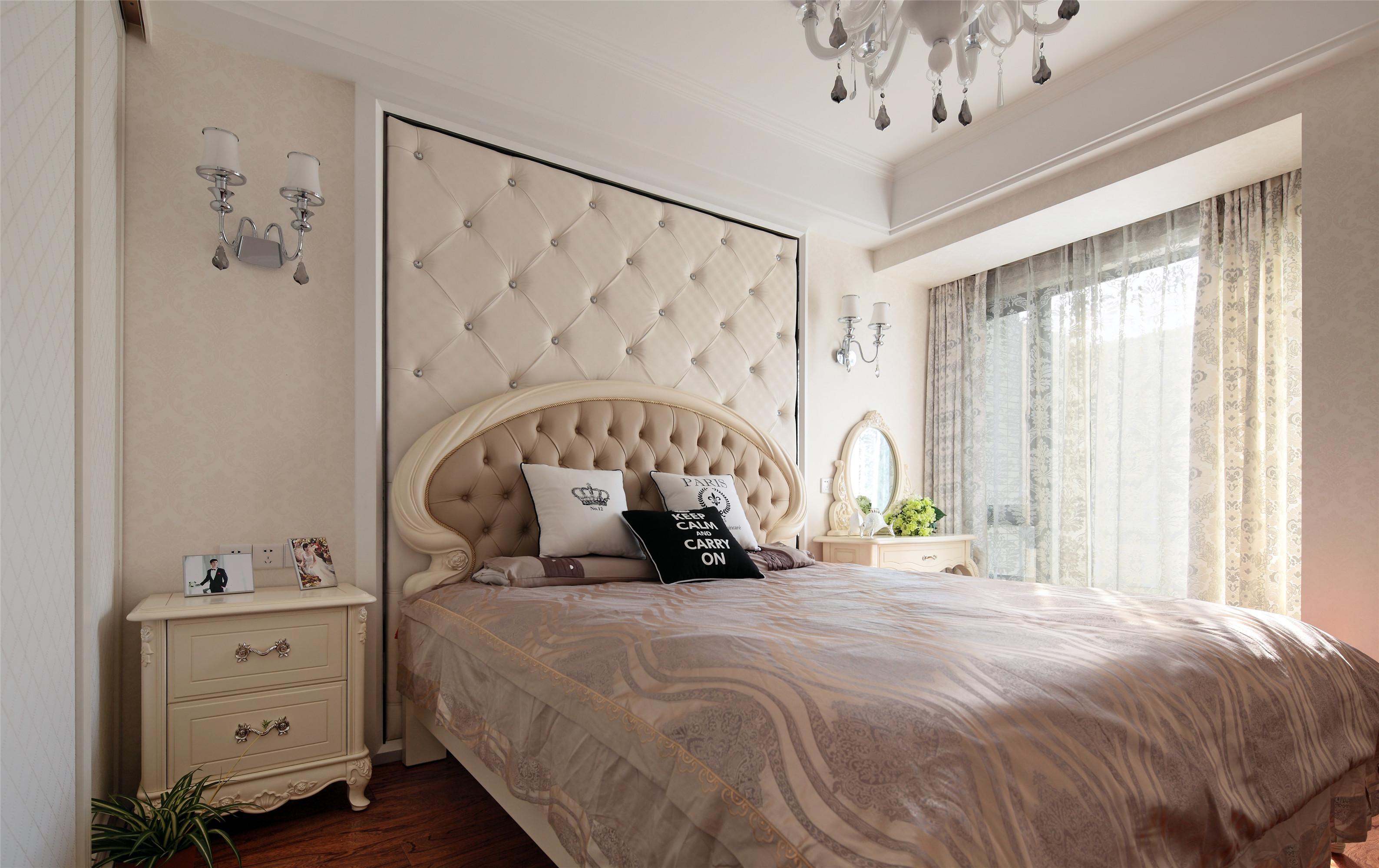 100㎡新古典装修卧室设计图
