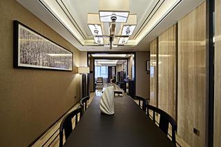 新中式三居装修餐厅效果图