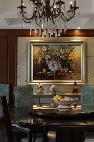 新古典别墅装修餐厅背景墙图片