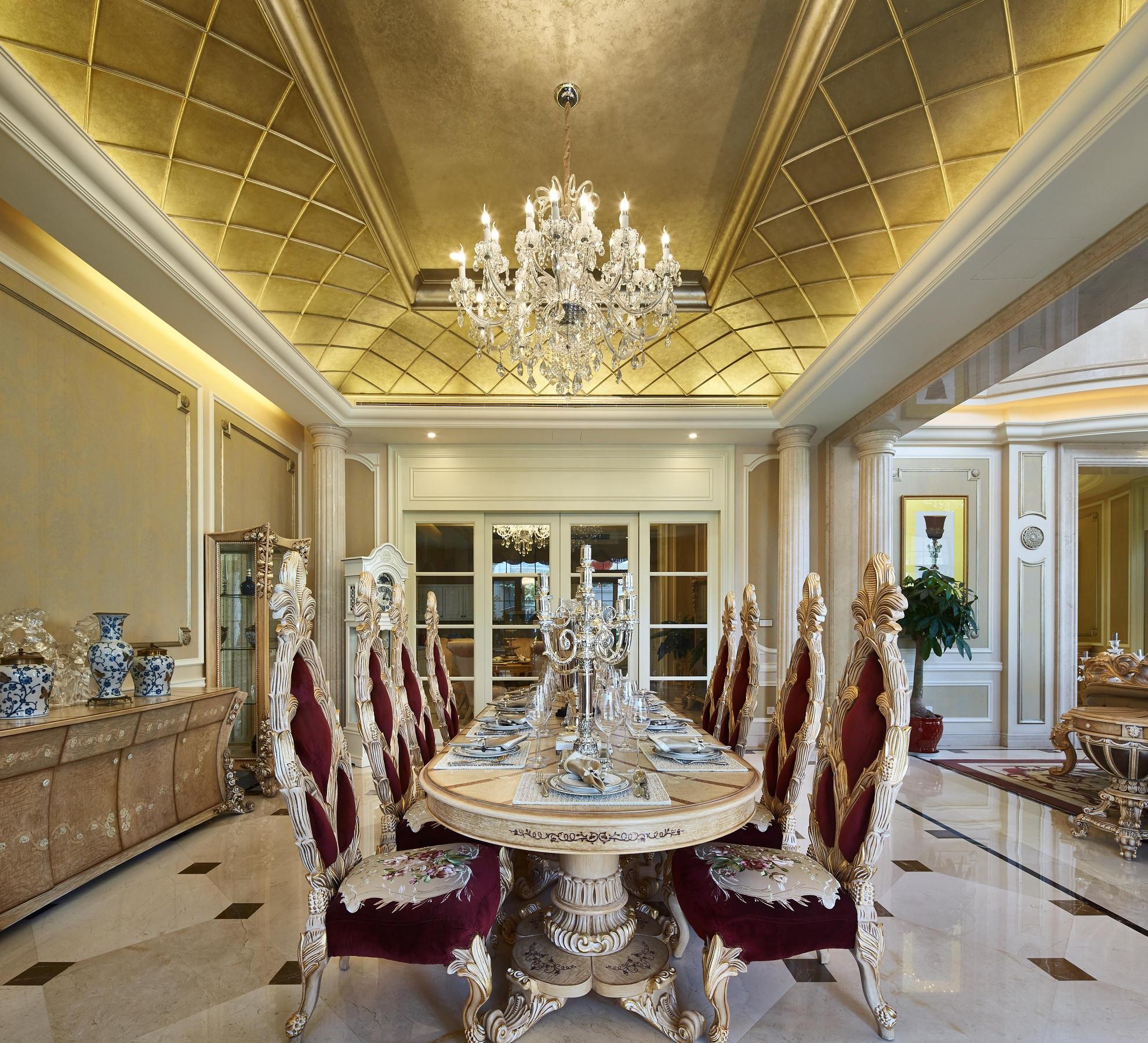 欧式风格别墅装修餐厅吊顶设计
