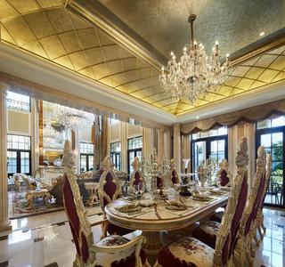 欧式风格别墅装修餐厅效果图