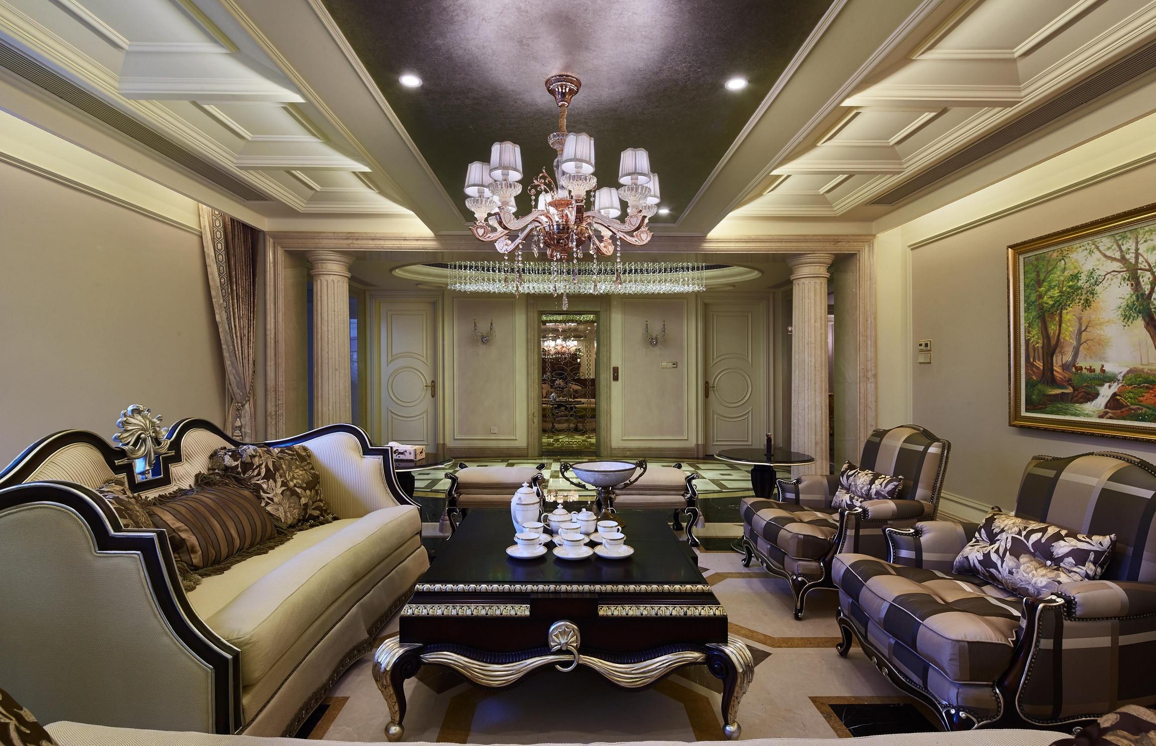 欧式风格别墅装修休息室效果图