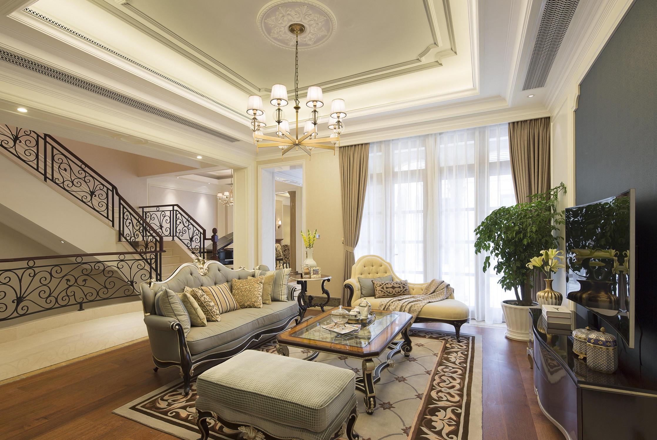 法式别墅装修会客厅效果图