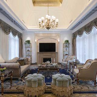 法式别墅亚博唯一授权官网效果图 复古优雅