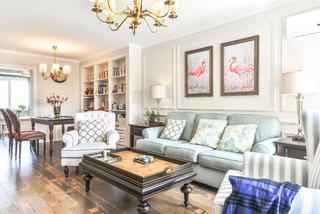 98平美式二居装修沙发图片