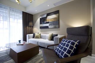 现代简约二居装修沙发背景墙图片