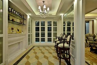 法式别墅装修红酒架设计