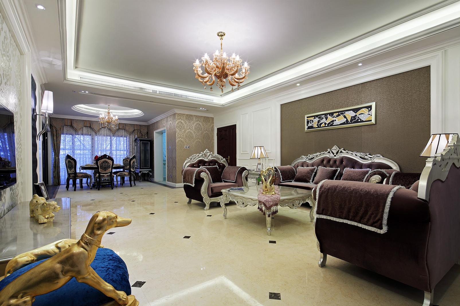 大户型新古典风格装修客厅效果图