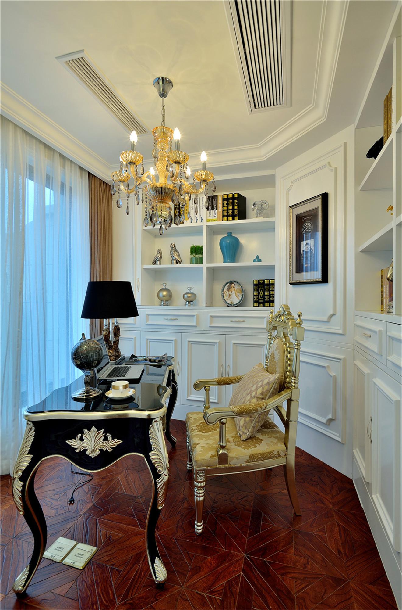 法式别墅装修书房效果图