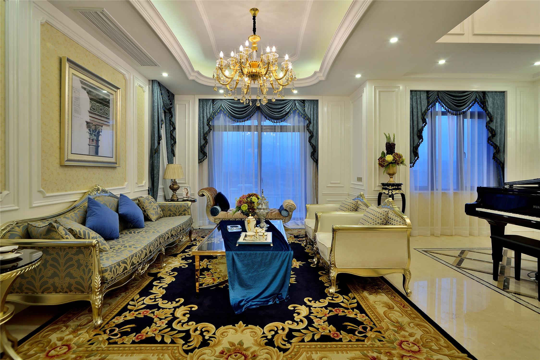 法式别墅装修客厅装潢图