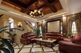 美式风格别墅装修吊顶设计