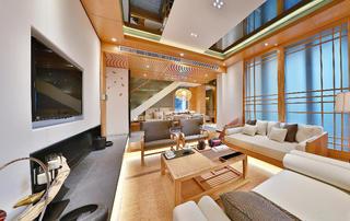 日式别墅装修客厅效果图
