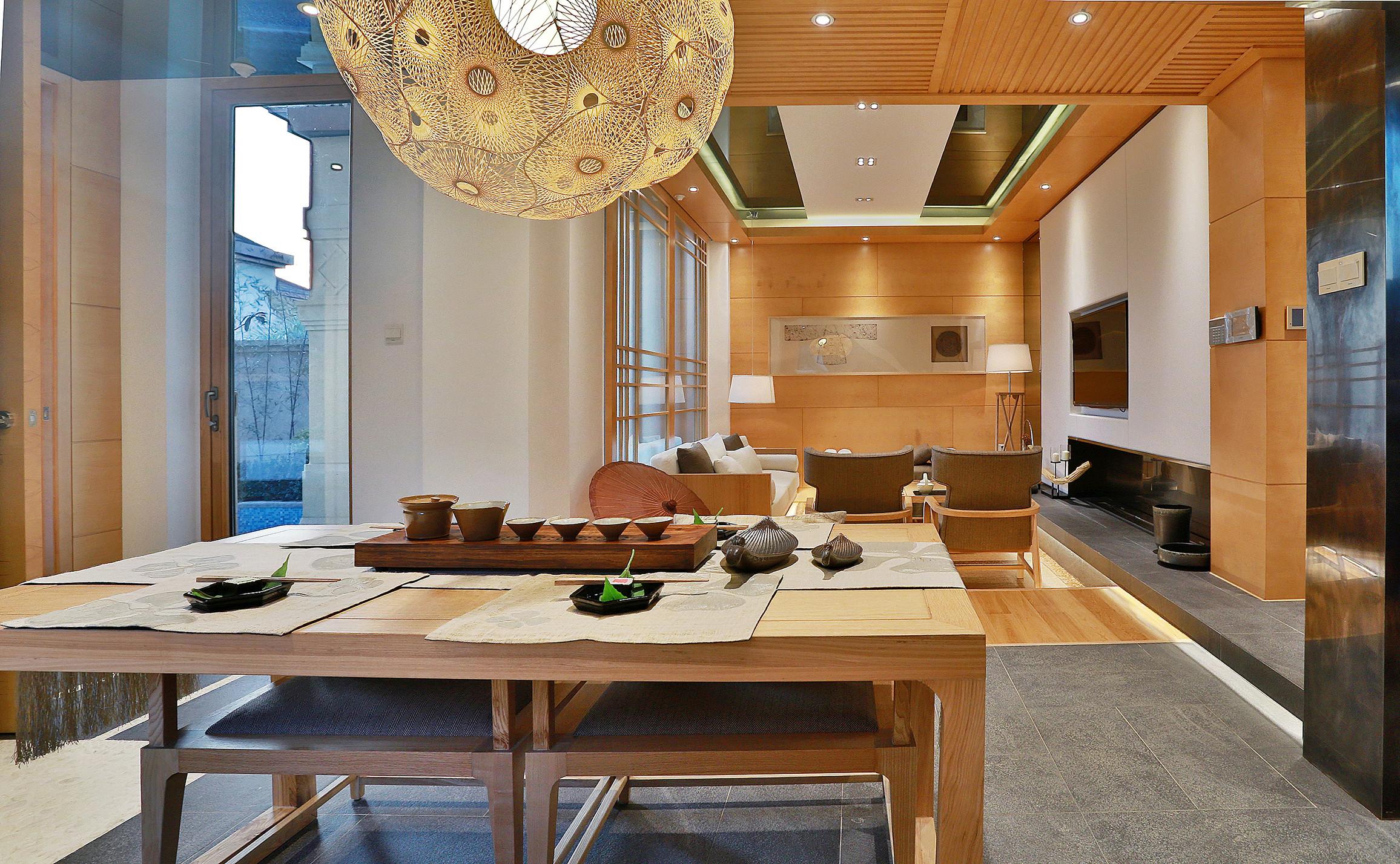 日式别墅装修餐厅效果图