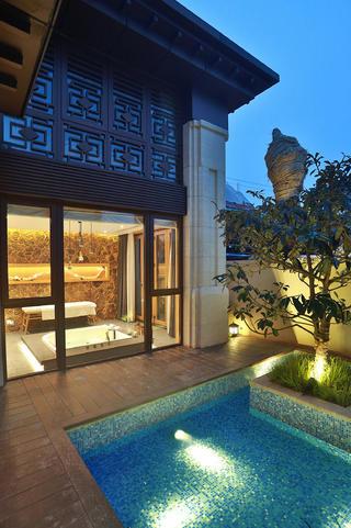 日式别墅装修泳池图片
