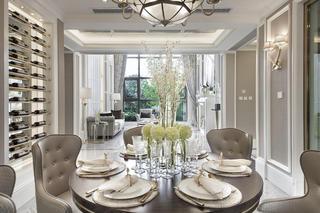 别墅混搭装修餐桌椅图片