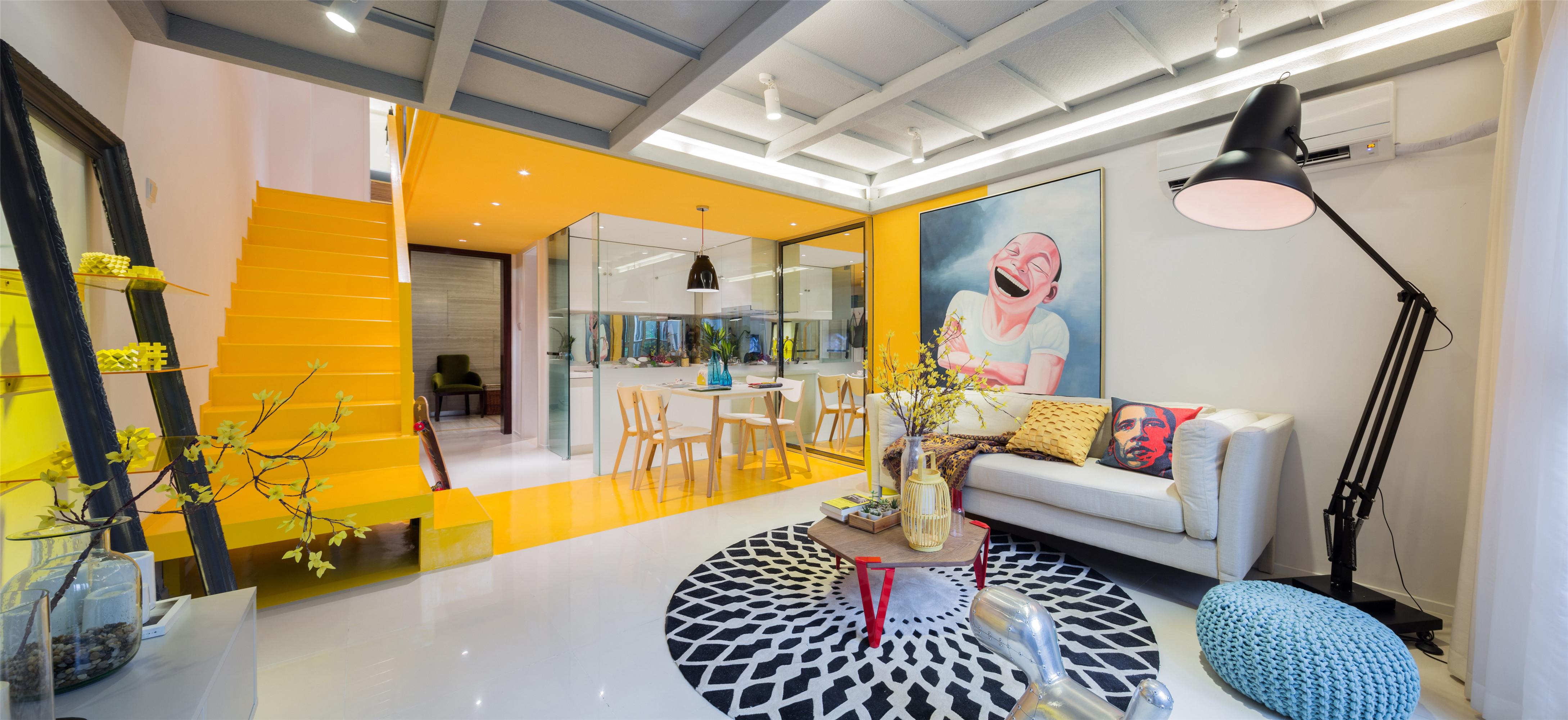 90平loft风格家客厅设计图