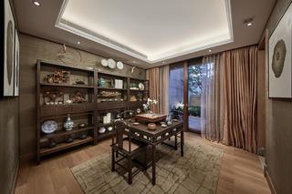 中式別墅裝修書房設計圖