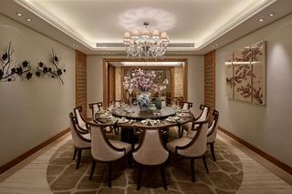 中式别墅装修餐厅布局图